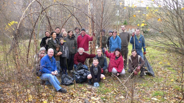 Local people formed the North Kelvin Meadow Campaign and cleaned the land up.