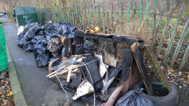 Local people came together to form the North Kelvin Meadow Campaign and cleaned the land up - the first clean-up produced 60 bags of rubbish.