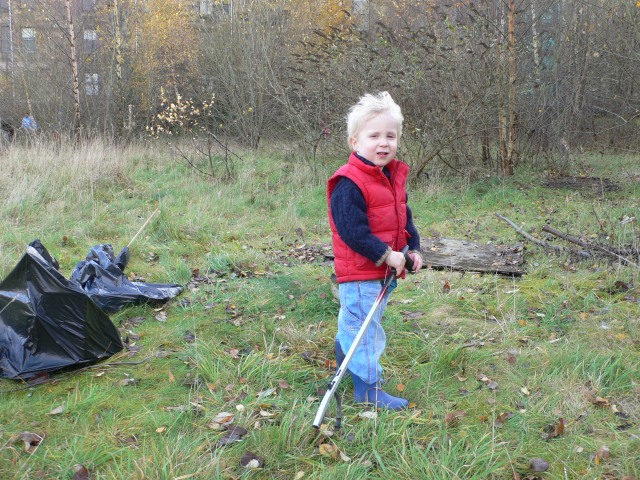 One of our younger volunteers